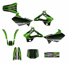 1994 1995 1996 1997 1998 KX125 KX250 graphic decal kit for Kawasaki #3333 Green