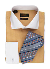 Dress Shirt by Steven Land Spread Collar  French Cuff -Camel-TW522-CM