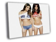 Lucy Pinder Rosie Jones Sexy Girls Hot Boobs FRAMED CANVAS WALL PRINT