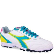 Women's Diadora Capitano LT Turf Cleats - White/Teal/Yellow/Pink - NIB!