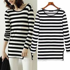 Fashion Women's Long Sleeve Round Collar T-shirt Casual Slim Shirt Tops Blouse