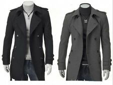 Fashion Men's Warm Coat Trench Coat Outwear Overcoat Long Jacket Winter Tops 2w