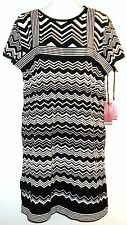 MISSONI for Target Women's 2-Pc Set Zig-Zag Tank Sweater Dress+T-Shirt NWT Small