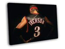 Allen Iverson Great Philadelphia 76ers Sixers FRAMED CANVAS WALL PRINT