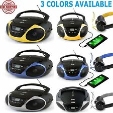Stereo CD Player Portable Boombox Am Fm Sports Radio Home Loud Music Aux Bass