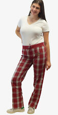 Houston Astros Women's Lightweight Plaid Logo Lounge Pants with Rhinestone Logo