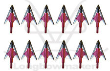 New Red NAP Bloodrunner Broadhead 100gr 2 Blade Archery Hunting Arrowheads