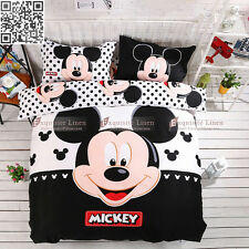Mickey Mouse Quilt Doona Duvet Cover Set Pillowcases Queen/King Bed 100% Cotton