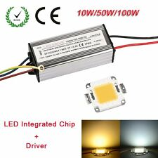 LED SMD Chip Bulb Bead 10W/50W/100W LED+Driver Supply High Power Waterproof