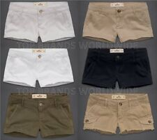 HOLLISTER BY ABERCROMBIE WOMENS KHAKI SHORTS CLASSIC LOW RISE SHORT SHORTS NWT