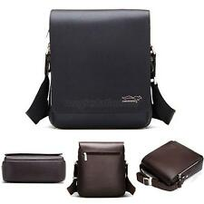 Men Travel Faux Leather Messenger Shoulder Bag Crossbody Bags Handbag Small Bag