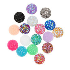 10pcs Resin Cute Round Cabochons Colored Babysbreath Cameo Flatback DIY12mm