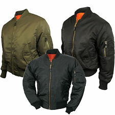 MA1 Mens Army Pilot Biker Bomber Fly Military Security Harrington Jacket Lot