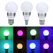 3W/10W E27/E14/B22 Base Type RGB LED Light Bulbs Color Changing Lamp With Remote