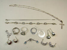 Sterling Silver Failed Magnet Test Jewlery Lot Pendant Ring Earrings AS IS