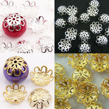10MM 200Pcs Gold /Silver Plated Flower Bead Caps For Jewelry Finding Craft DIY