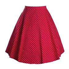 Polka Dot Bust Skirt A-line Skirt  red