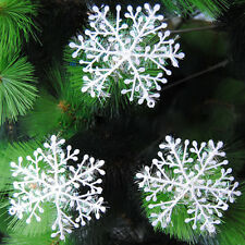 Christmas White Snowflake Xmas Tree Decoration Holiday Party Home Ornament Decor