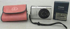 Canon PowerShot SD870 IS Silver Black 8 MP Digital Point & Shoot Camera Bundle
