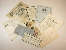 Lot Of Antique Birth Marriage & Death Certificates From A Family Bible