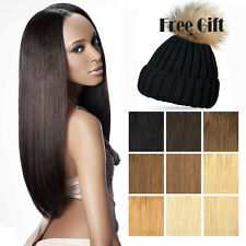 "100% Full Head Clip In Remy Human Hair Extensions 16"" 18"" 20"" 22"" 100g + Gift"