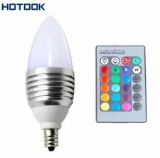 3W E12/E14/E27 RGB LED 16 Colors Candle Light Bulb Candelabra Lamp with Remote