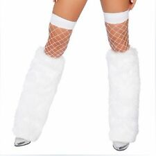 Lady Sexy Faux Fur Leg Warmers Christmas Party Winter Furry Boot Covers Socks