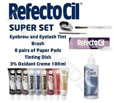COMPLETE SET RefectoCil 100 Eyebrow& eyelash tint various colours ALL YOU NEED