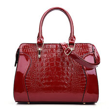 Patent Leather Handbag Luxury Crocodile Tote Bag Shoulder Bags Women Handbags