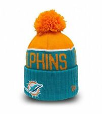 Pompom hat NEW ERA Miami DOLPHINS Turquoise Orange Sports Knit Beanie