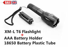 CREE XM-L T6 2000/1800LM Zoomable LED Flashlight Torch Adjustable Focus Light