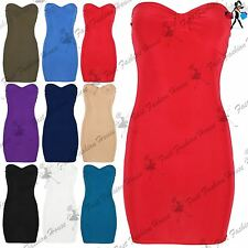 New Womens Ladies Bow Knot Front Sleeveless Slim Tunic Fitted Bodycon Mini Dress