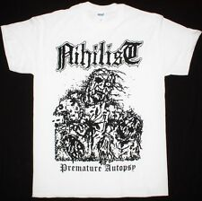 Nihilist Premature Autopsy Swedish Death Metal Entombed White T-Shirt