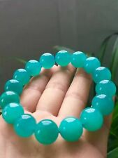 Natural Mozambique Ice Amazonite Gems Round Beads Bracelet 13.8mm AAAA