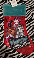 Monster High First Wave Christmas Holiday Stocking Frankie Draculaura Clawdeen