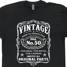 50th Birthday T Shirt Vintage 1966 Tshirt Aged To Perfection Old Fart Mens Tee