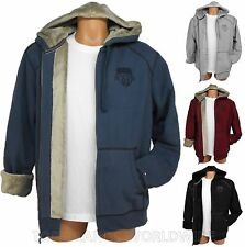 TOMMY HILFIGER MENS FUR HOODIE FULL ZIP SWEATSHIRT JACKET MEDIUM NWT MSRP $99.50