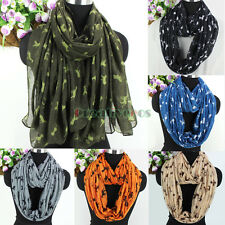 Women's Fashion Scarf Animal Scarf Cats&Octopuses Print Long/Infinity Scarf New