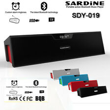Sardine wireless Bluetooth Speaker Amplifier mini Portable HIFI Speaker FM Radio