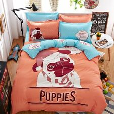 Single Queen Double Size Bed Set Pillowcase Quilt Duvet Cover Gumpy Dog Puppy O