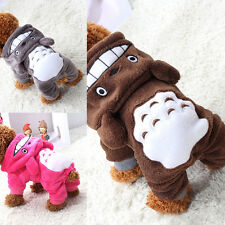 Cute Pet Dog Cat Clothes Hoodie Jacket Coat Fleece Totoro Costume Puppy Apparel