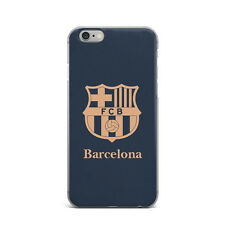 FC Barcelona Football Soccer TPU Rubber Silicone Clear Cover Case For iPhone