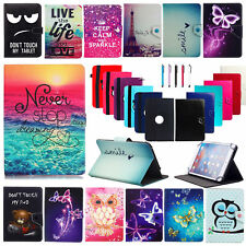 "For All 7"" 8"" 10"" 10.1"" Android Tablets PC Universal PU Leather Case Cover+Pen"