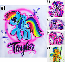 Airbrushed Custom Any Little Pony Horse T-shirt Bodysuit Hoodie Pillowcase
