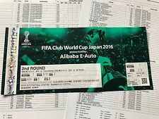 FIFA CLUB WORLD CUP 2016 MINT UNUSED! ticket Club América Jeonbuk +TEAMSHEETS x2