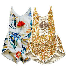 Summer Sleeveless Romper Girl Kid Baby Jumpsuit Floral Clothes Newborn Outfits