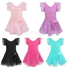 Girls Kids Chlid Ballet Tutu Skirt Dress Leotard Dancewear Skate Dance Costume