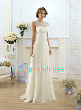 New Stock White/Ivory Wedding Dress Bridal Gown Size 4 6 8 10 12 14 16 18 20 22