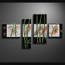 Tetraptych Contemporary Wall Art Landscape Painting Tree Inner Framed