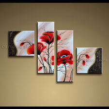 Large Contemporary Wall Art Floral Painting Poppy Contemporary Decor